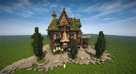 medieval tall house timelapse  minecraft project minecraft projects minecraft
