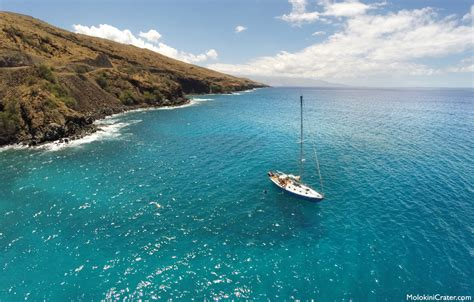 Boat From Hawaii To Maui by Sailing Off The Coast Of Maui Hawaii Molokini Crater
