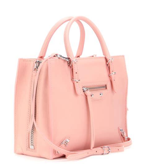 balenciaga s by blipatu lyst balenciaga mini papier a4 leather shoulder bag in pink