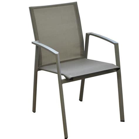 chaises et fauteuils de jardin fauteuil de jardin sparta alu et textilène coloris taupe proloisirs