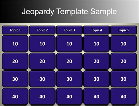jeopardy powerpoint templates   designs