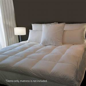 1000gsm mattress topper pillowtop duck feather down pillow for Best down pillow top mattress pad