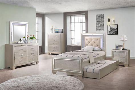 platinum youth  piece twin  full bedroom set gonzalez