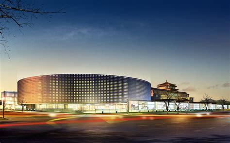modern architecture circular building desktop wallpaper
