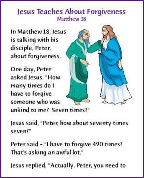 jesus teaches about forgiveness story korner 808   a91c67704d28131f7cba19acf7eb2fa9 forgiveness stories days