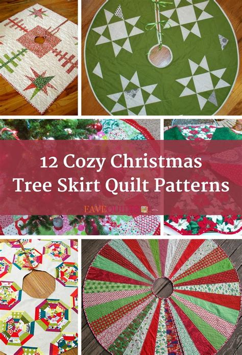 cozy christmas tree skirt quilt patterns favequiltscom