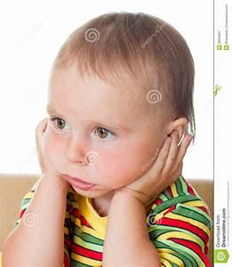 Cute Baby Thinking Stock Image - Image: 28594901
