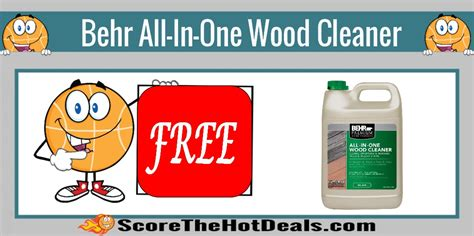 free behr all in one wood cleaner after rebate score the deals