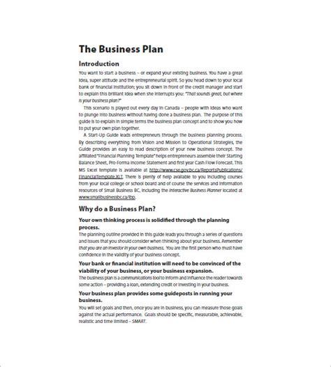 Business Plan Template Pdf Sle Startup Business Plan Template Rusinfobiz