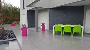 Terrasse Sur Plot : carrelage sur terrasse et entourage de piscine ~ Melissatoandfro.com Idées de Décoration