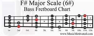 F  Major Scale Charts For Guitar And Bass