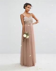 beige bridesmaid dress With tan dresses for wedding