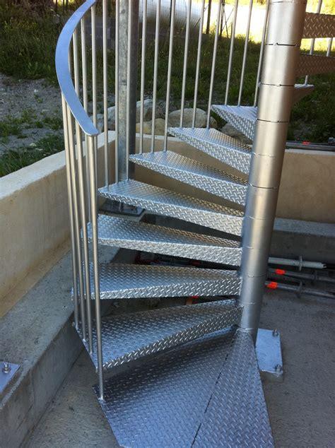 fabrication et pose d un escalier en colimacon a montgenevre m 233 tal concept