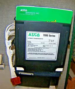 Asco 800 Amp Automatic Transfer Switch 480 Vac