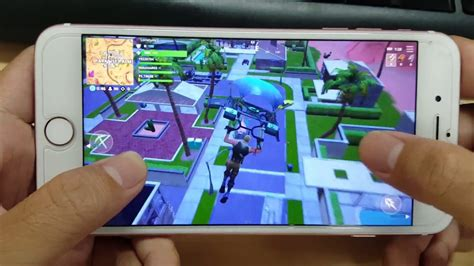 test game fortnite mobile  iphone   youtube