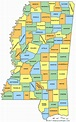Mississippi County Map - MS Counties - Map of Mississippi