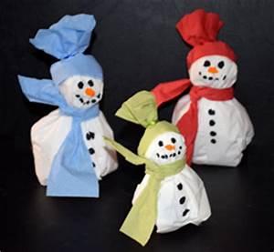 Basteln Winter Kinder : schneemann aus servietten basteln ~ Frokenaadalensverden.com Haus und Dekorationen