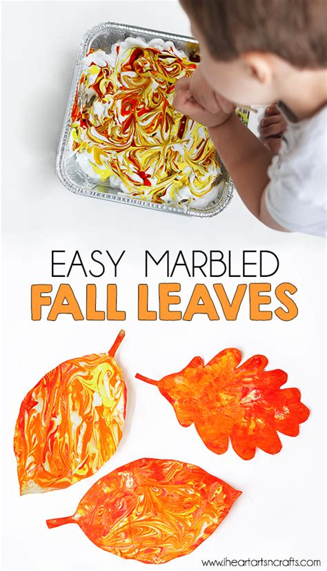 easy marbled fall leaves i arts n crafts 668 | FallLeaves2