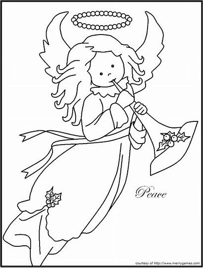 Coloring Religious Christmas Pages Printable Peace Jesus