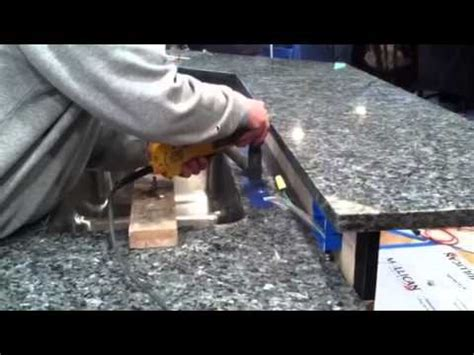 how to drill faucet holes granite countertops