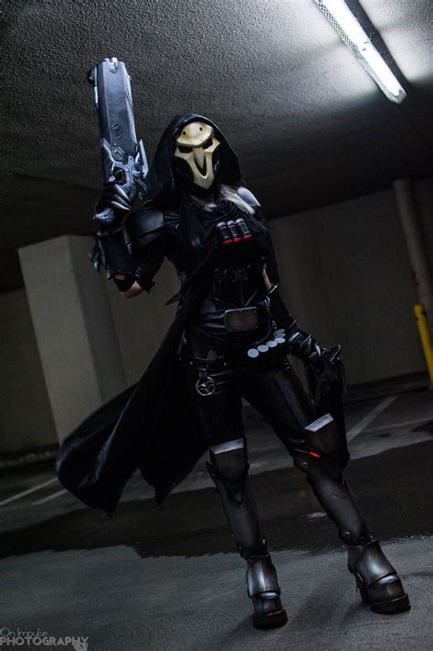 cosplay reaper overwatch female bloodraven project nerd comic game geeknative ready getting