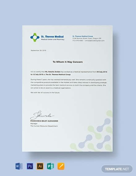 medical certificate templates word psd