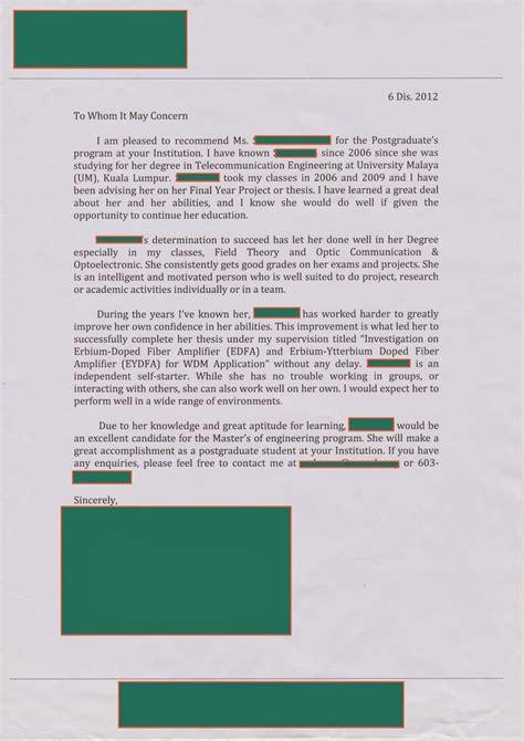 contoh cover letter untuk literature review