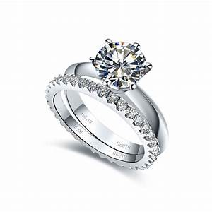 synthetic diamond wedding ring sets wedding With synthetic diamond wedding rings