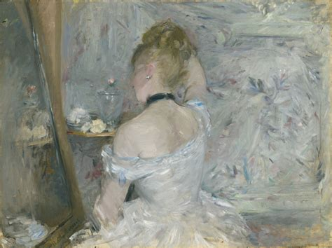 femme en toilette de bal femme 224 sa toilette 1875 berthe morisot