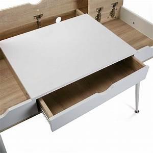 Rangement Cable Bureau : bureau d 39 ordinateur rangement c bles bois mdf et bois ~ Premium-room.com Idées de Décoration