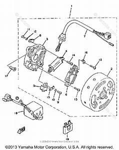 Yamaha Motorcycle 1980 Oem Parts Diagram For C