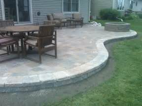 patio designs paver patios here 39 s a raised curved paver patio