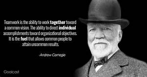 Andrew Carnegie... Power Of Vision Quotes