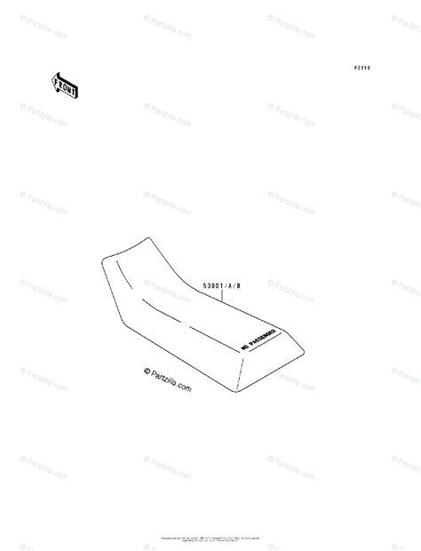 Kawasaki Atv Oem Parts Diagram For Seat Partzilla