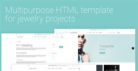 turquoise template turquoise website template