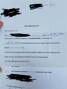Beschäftigungsverbot Schwangerschaft Gehalt Berechnen : besch ftigungsverbot vom ag schwanger wer noch ~ Themetempest.com Abrechnung
