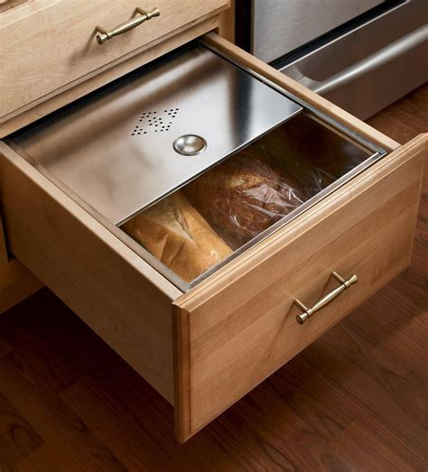 Kitchen Cupboard Drawers by Base Bread Box Drawer Kitchens Classically Traditional