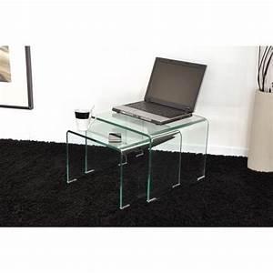 Made Com Table Basse : table verre gigogne ~ Dallasstarsshop.com Idées de Décoration