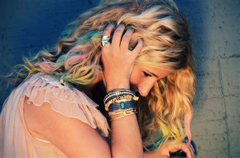 Diy Colorful Chalk Hair Tips