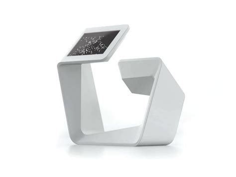 Solid Surface® Multimedia Display Stand Double Media Unit