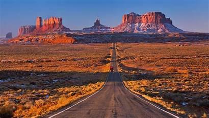 Monument Valley Usa Wallpapers Zastavki Desktop Road