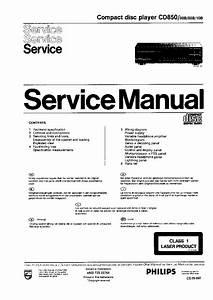 Philips Cd850 Sm Service Manual Download  Schematics