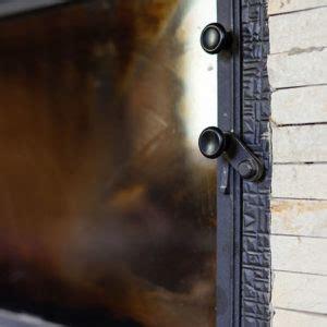 fire   closed glass door