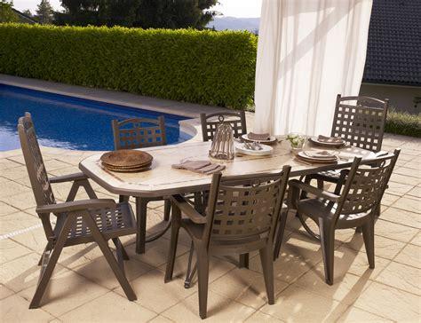 grosfillex salon complet table amalfi bronze 4 fauteuils bo