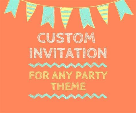 Custom Invitation Design Birthday Invitation party