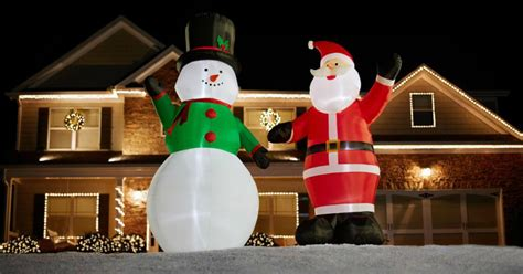 home depot  christmas inflatables