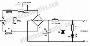 voltage divider is it possible to step down 240 ac to 5 With ac power circuit