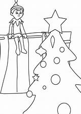 Elf Shelf Coloring Pages Tulamama Printable Easy Print They Collection Different sketch template