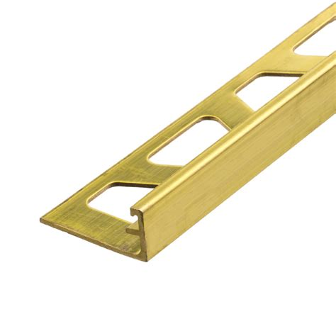 schluter schiene brass tile trim tiling supplies direct