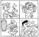 Hygiene Coloring Preschool Personal Pages Habits Healthy Worksheets Activities Health Kindergarten Mypersonalhygiene Education Lessons sketch template